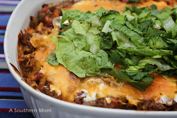 Enchilada Casserole – Easy & Quick!