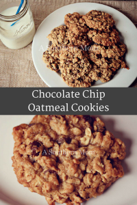 Chewy & delicious Chocolate Chip Oatmeal Cookies are going to be your FAVORITE cookies! Tasty, chewy and great for everyone (especially nursing moms). #cookies #cookierecipe #oatmealcookierecipe #lactationcookies