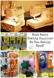 basic sewing supplies