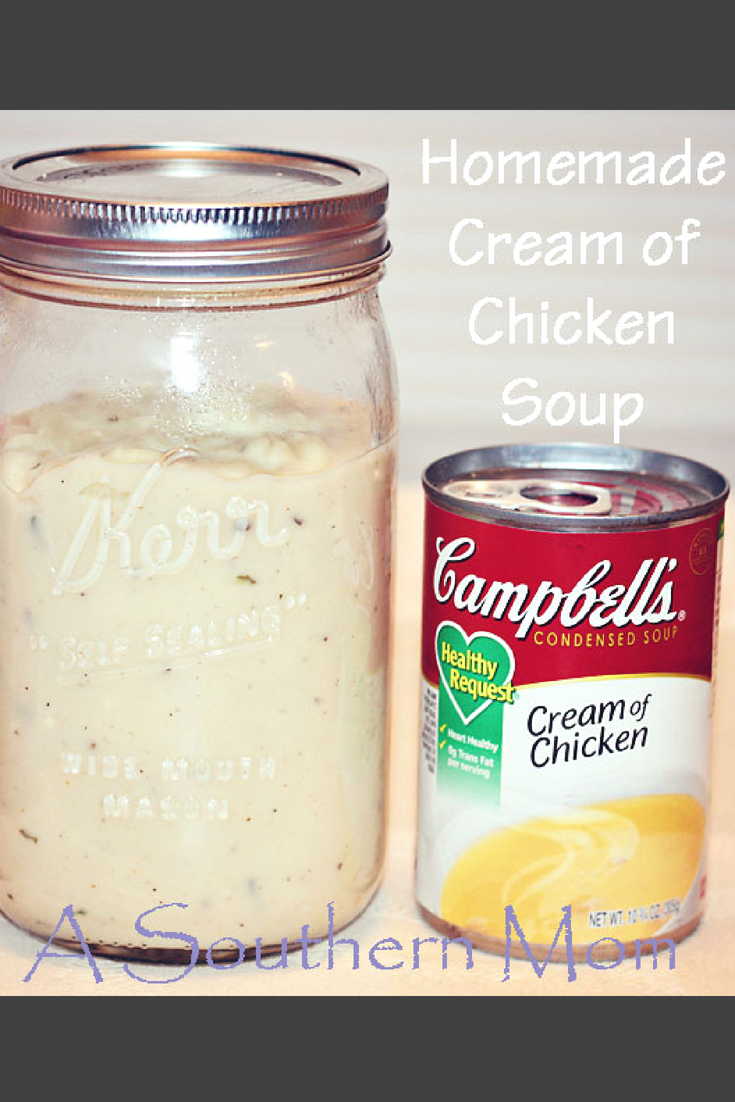 Make your own homemade cream of chicken soup, it's actually super easy! I bet you have all the ingredients to make this in your pantry right now! You can substitute this homemade cream of chicken soup in any recipe that calls for cream of chicken soup. There are so many uses! You will love having this recipe on hand. Go check it out! #homemadecreamofchickensoup #creamofchickenrecipe #creamofchickensouprecipes