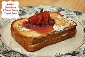 Stuffed Strawberry Cream Cheese French Toast