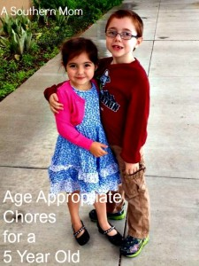 Age Appropriate Chores for a 5 Year Old