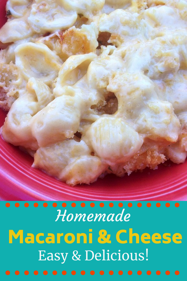 This easy, creamy macaroni and cheese recipe will be a HIT with kids and adults! This amazing recipe for macaroni & cheese can be made with pasta shells, macaroni elbow noodle, etc. The key is the super creamy, cheesy sauce! Your family will beg for seconds of this rich and creamy mac and cheese! #macaroniandcheesefromscratch #macaroniandcheeserecipe #homemademacaroniandcheeserecipe