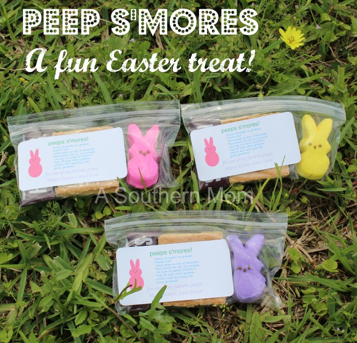 peep s'mores - easter