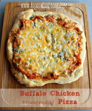 Buffalo Chicken Homemade pizza sidebar