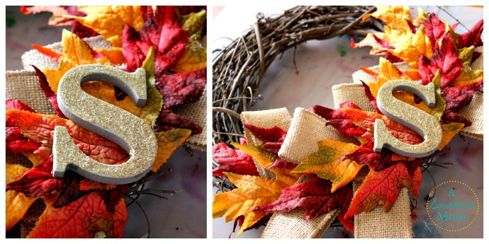 Fall wreath S placement