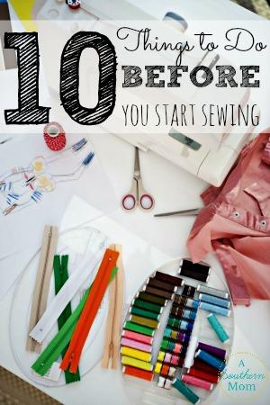 before you start sewing sidebar