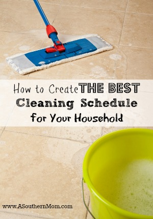 cleaning schedule sidebar