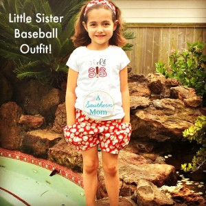 DIY Little Sister Boutique Quality Baseball Outfit