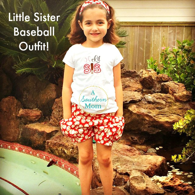 Little Sister Baseball Outfit