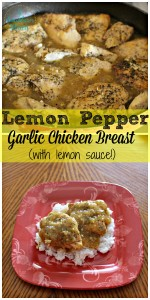 Lemon Pepper Garlic Chicken Breast in the Slow Cooker (With Lemon Sauce!)