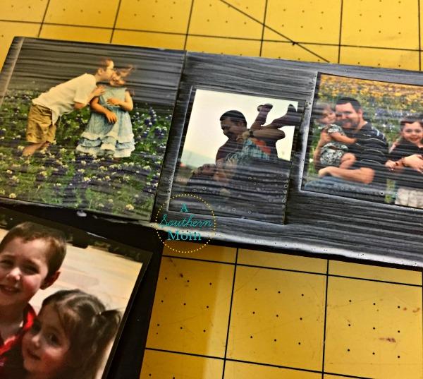 diy collage picture frame mod podge