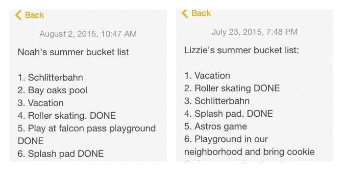 Summer Bucket List Kids