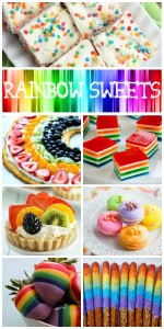 12 Rainbow Themed Sweets – Fruit, Jello, Cake and More!
