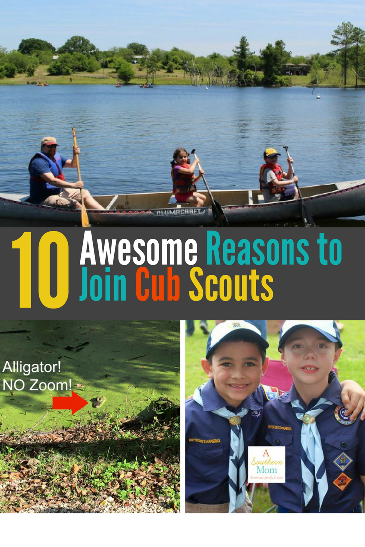 On the fence about signing up for Cub Scouts?My son has been in Cub Scouts since he was a first grade Tiger. It has been a constant in our lives ever since. It is the extracurricular that he enjoys the most and the one that has probably had the most positive effect on his life so far. Read the post to learn 10 of the BEST reasons to join Cub Scouts! #cubscouts #joincubscouts #scouting #cubscoutrecruitment
