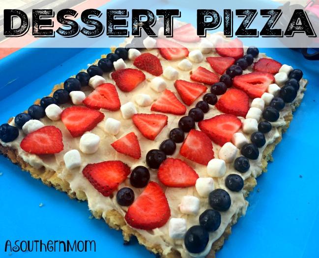 Dessert pizza