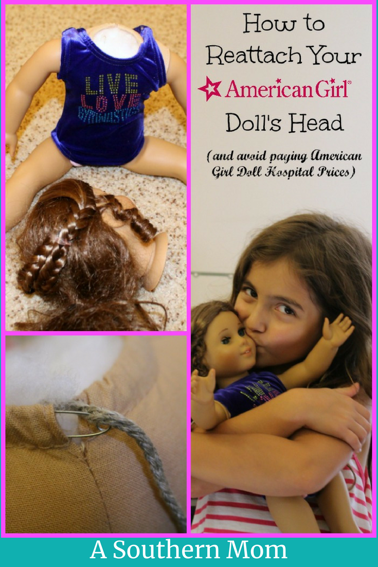 American girl doll hospital diy head reattachment a southern mom has your american girl doll totally lost her head i mean has it fallen solutioingenieria Images