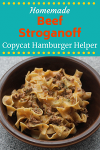 This Hamburger Helper Beef Stroganoff Recipe will knock your socks off. Not only is it simple and quick, it's also not much more expensive than the boxed stuff. You really have no excuse to not make this tasty meal from scratch!